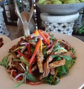 Thai Beef Salad at Monwana Lodge